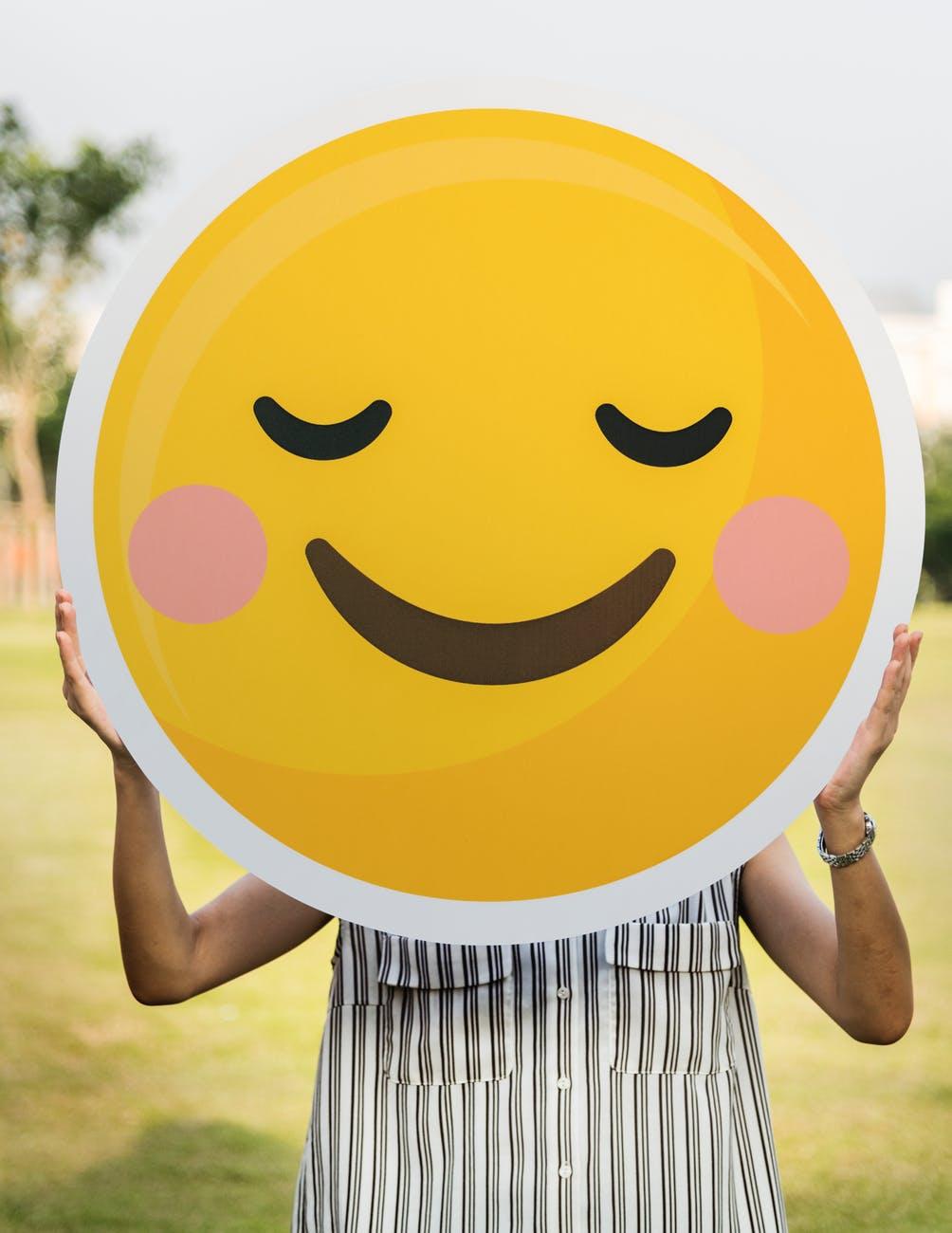smiley face blushing